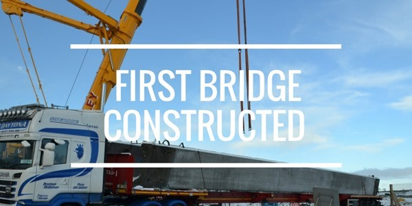 First overbridge constructed on A6